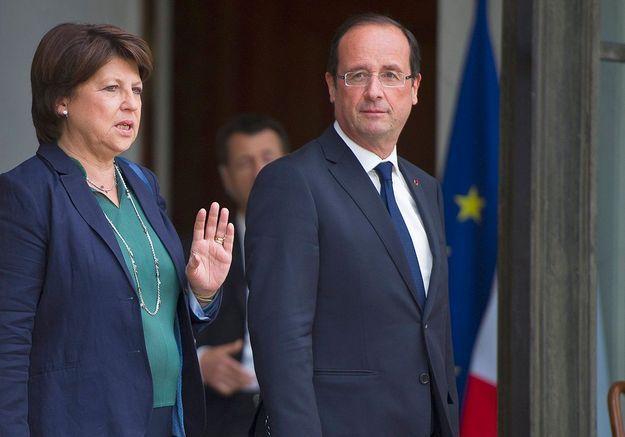François Hollande et les frondeuses