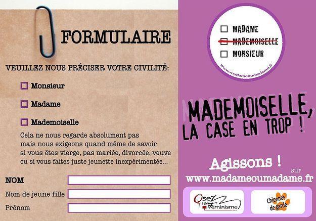 La suppression du « Mademoiselle »  en France