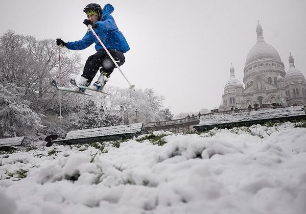 15 photos de Paris sous la neige
