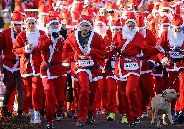 Course caritative de Pères Noël
