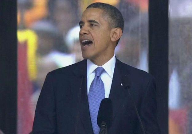 Barack Obama à la tribune