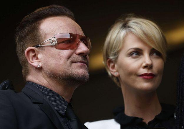 Bono et Charlize Theron