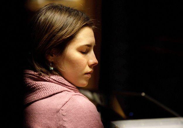 Amanda Knox lors de son procès