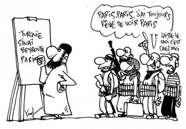 Caricature de Pierre Kroll