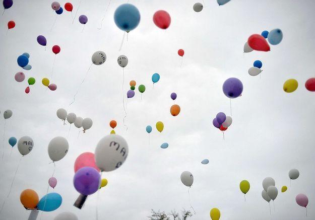Un lâcher de ballons pour les 9 ans de Maëlys