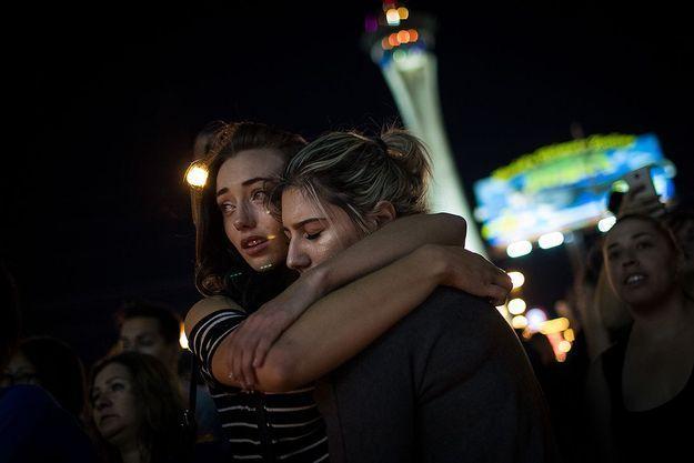 Hommage aux victimes de la fusillade du Mandalay Bay de Las Vegas