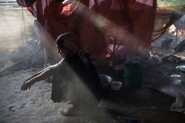 La fuite des réfugiés Rohingyas