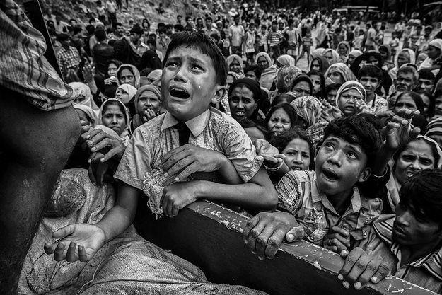Un jeune réfugié Rohingya près du camp de Balukali