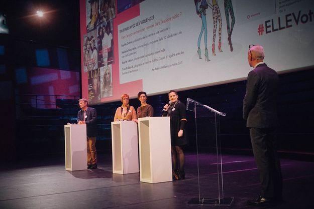 Sophie  Garric, Mélanie  Gourarier, Sophie Latour, Yves  Raibaud et Patrick Williams