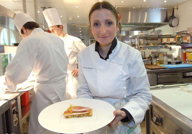 Anne-Sophie Pic, pour l'ouverture de son restaurant à Paris