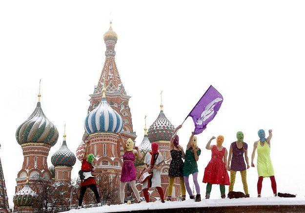 Les Pussy Riot pour le vent de révolte anti-Poutine qu'elles ont fait souffler