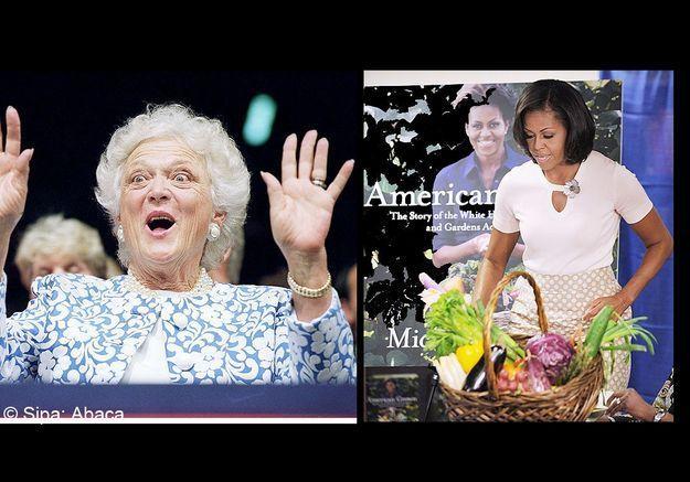 Michelle obama barbara bush