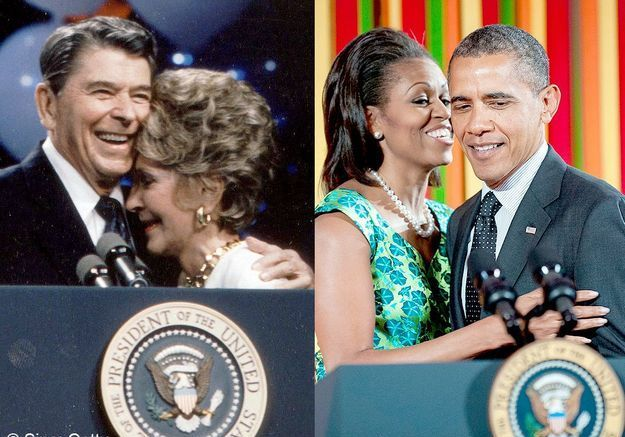 Michelle obama nancy reagan