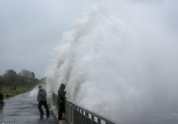 New york ouragan vague