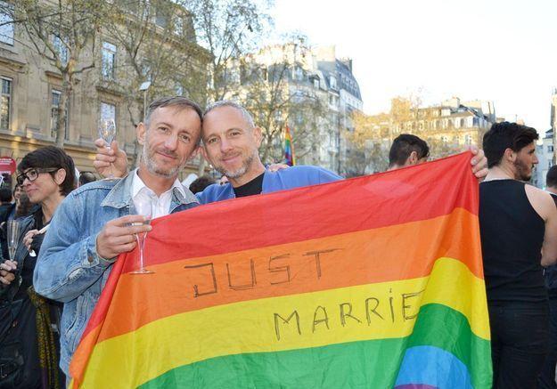 Joël, 47 ans et Gilles, 48 ans, en couple depuis quatorze ans