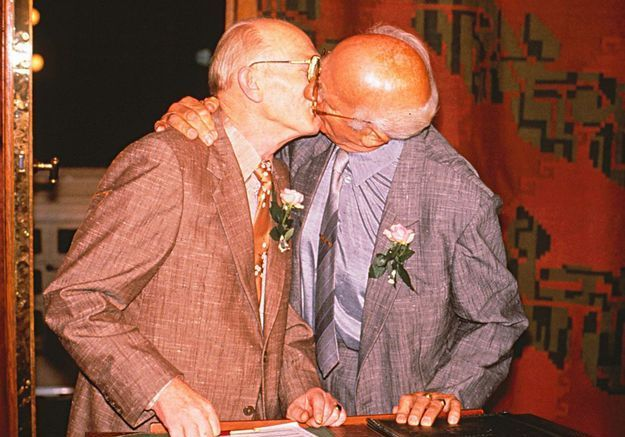 Axel Lundahl-Madsen et Eigil Axgil, au Danemark