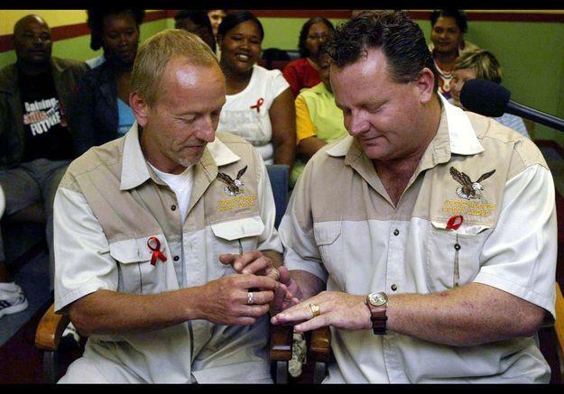 Vernon Gibbs et Tony Halls, en Afrique du Sud