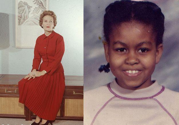 Michelle obama pat Nixon