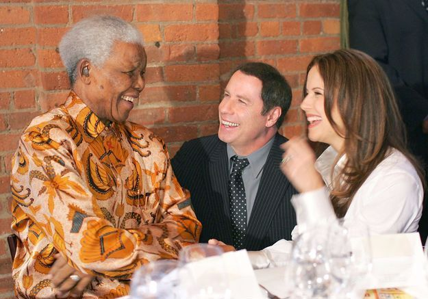 John Travolta et Kelly Preston le 12 mai 2005