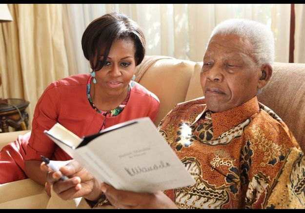 Michelle Obama et Nelson Mandela le 21 juin 2011