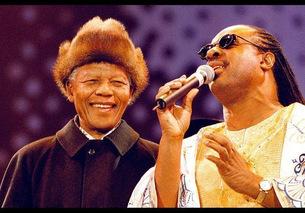 Stevie Wonder et Madiba en 1998