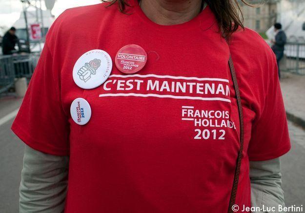 Looks de campagne meeting François Hollande