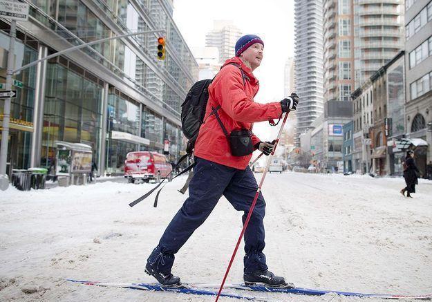 Une piste de ski dans les rues de New York