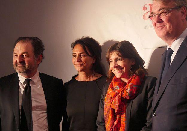 Denis Olivennes, Constance Benqué, Anne Hidalgo et Jean-Paul Delevoye