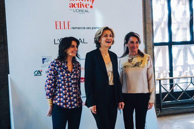 Anne-Cécile Sarfati, Valérie Pécresse et Constance Benqué
