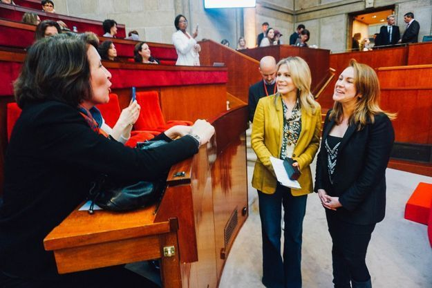 Flore Segalen, Katell Pouliquen et Axelle Lemaire