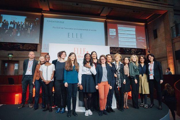 Une remise de prix avec la Fondation ELLE