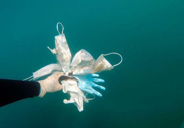 Les masques, dernière pollution de nos mers