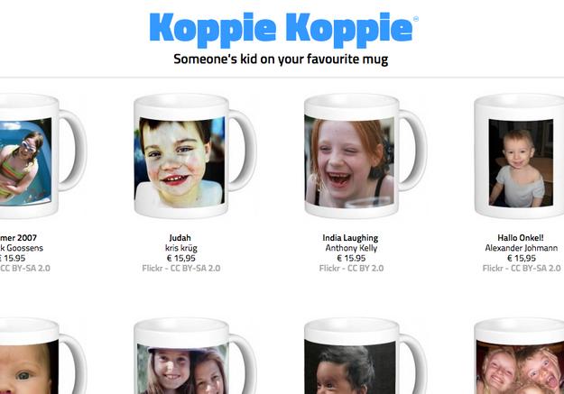 Ce site vend peut-être la photo de votre enfant imprimée sur un mug