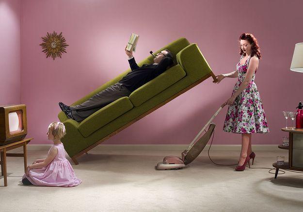 Couple : les femmes toujours cantonnées au ménage