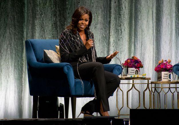 « Je suis là pour donner un coup de projecteur sur d'autres jeunes femmes » : le message féministe de Michelle Obama