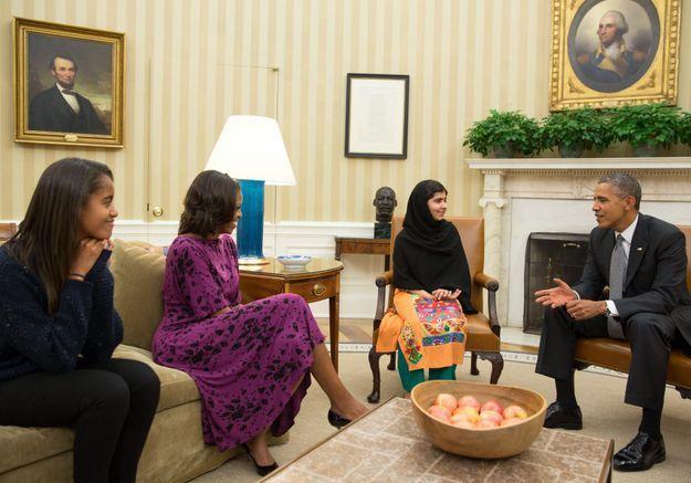 La famille Obama reçoit Malala à la Maison Blanche