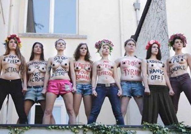 Les ex-Femen belges prennent Christine Boutin pour cible