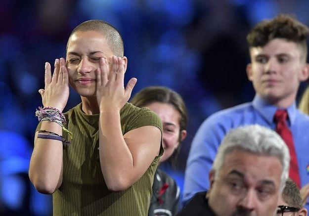Les larmes d'Emma Gonzalez, icône anti-armes aux Etats-Unis