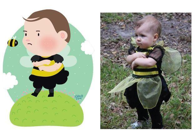 #Prêtàliker : une graphiste transforme les enfants en avatars mignons