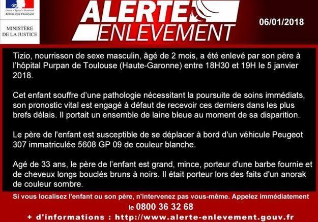 Toulouse : alerte enlèvement pour un nouveau-né dont le pronostic vital est engagé
