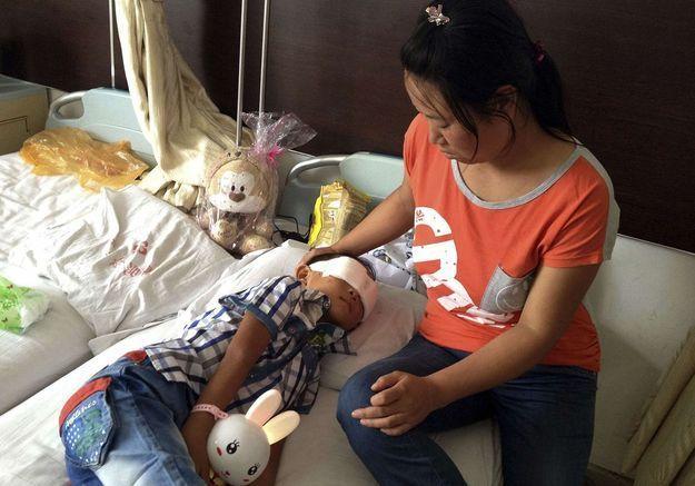 Un enfant chinois victime d'un crime atroce