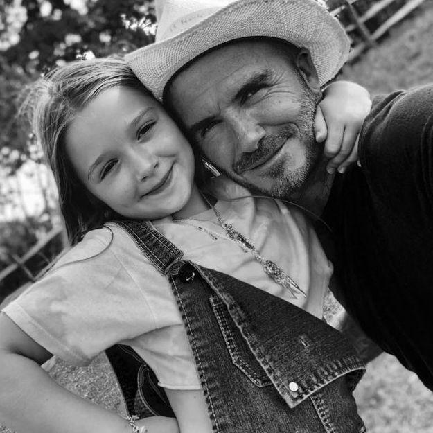 Harper Beckham copie l'une des coiffures préférées de son père David
