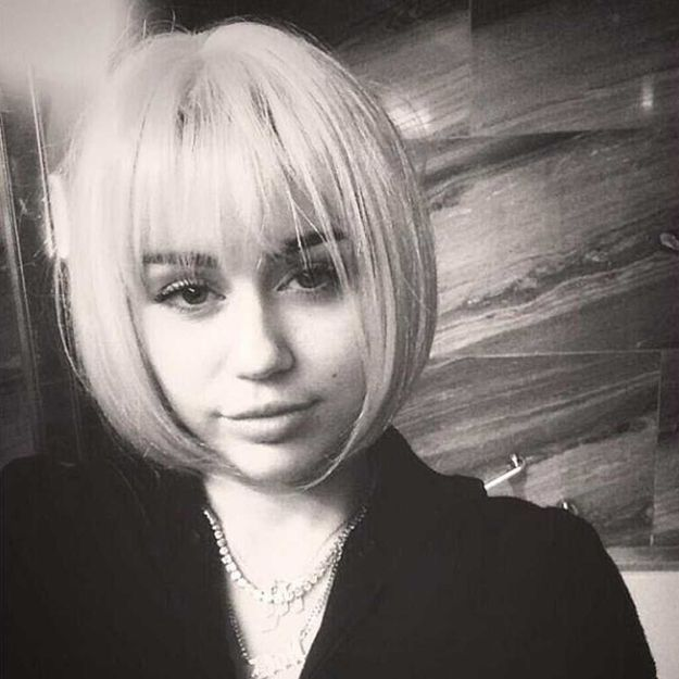 Coiffure : Miley Cyrus s'inspire d'Anna Wintour