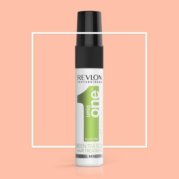 Cette semaine, votre magazine ELLE vous offre le Soin Cheveux UNIQ ONE, au parfum Thé Vert, de Revlon Professionnal