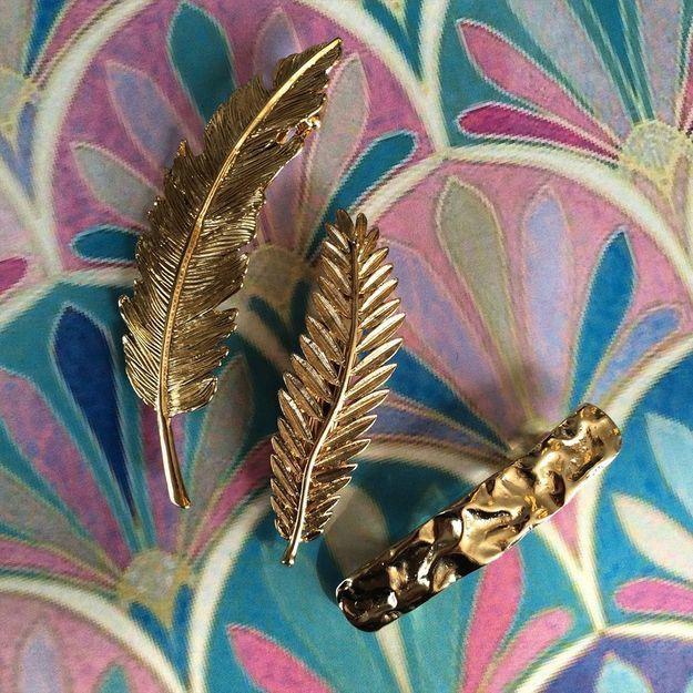 #ELLEBeautyCrush : les barrettes dorées de Biguine
