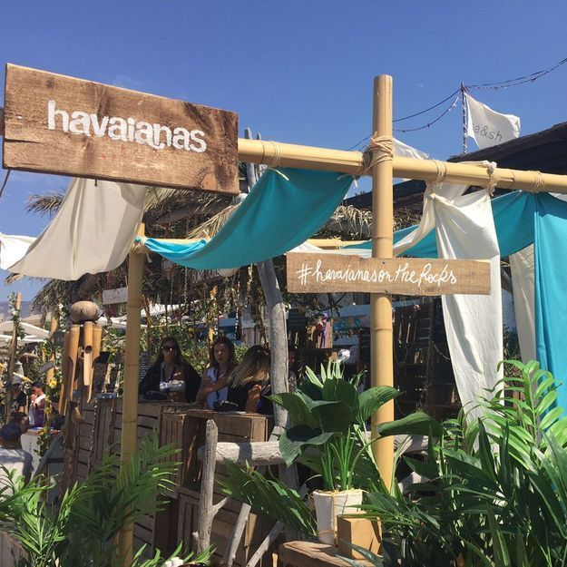 #ELLEBeautySpot : le spot pédicure d'Havaianas sur la plage In Casa de Calvi