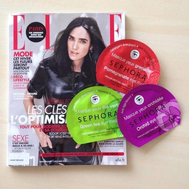Bon plan : un masque pour les yeux Sephora offert avec votre magazine ELLE