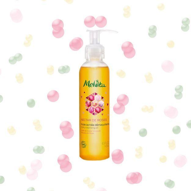 #ELLEBeautyCrush : l'huile démaquillante pour le visage à la rose de Melvita