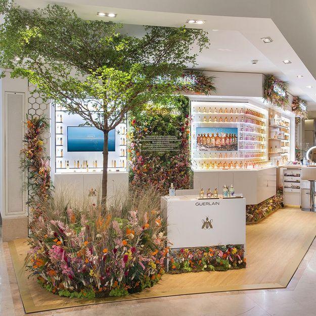 #ELLEBeautySpot : Bee Garden, le pop-up store Guerlain au Bon Marché