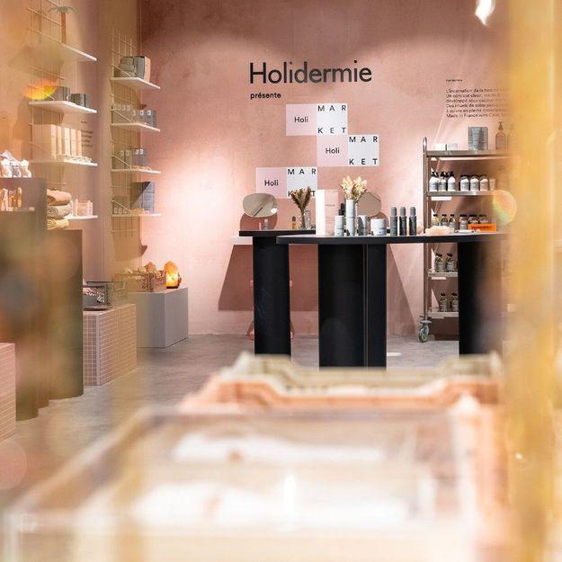 #ELLEBeautySpot : HoliMarket, le pop-up store sensoriel d'Holidermie au Bon Marché
